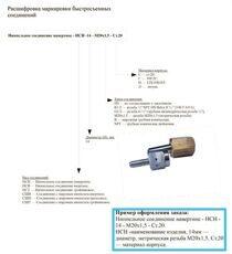 Расшифровка маркировки быстросъемных соединений